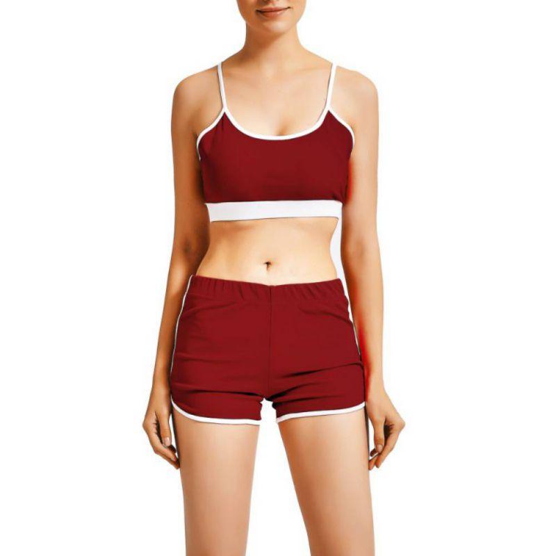 Sport Suit Tracksuit Bra+Short Sportswear 21