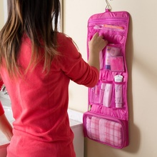 1 PCS Portable Hanging Organizer Bag Foldable Cosmetic Makeup Bag Storage Traveling Toiletry Bags Wash Bathroom Accessories