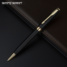 MONTE MOUNT lot Customized Ballpoint Pen Matte Black Ballpoint Pen  Gold Clip Office Supplies