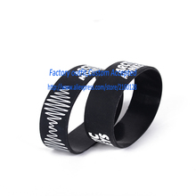 "ARCTIC MONKEYS Silicone 1"" Wide Debossed Filled in Colour Wristband Bracelet(China)"