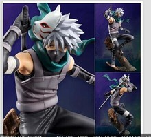 Hot sale 2017 New 25cm Naruto Hatake Kakashi Darck Hand Office Car PVC Action Figure Collection doll Model Anime Kids Gift Toy