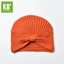 2017 KBB Spring Comfy Orange Kawaii Striated Yarn Knit Fashion Designer Acrylic Knit Women Delicate Winter Hat Beanie Cap(China)