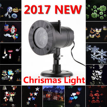 Oobest Chrismas Decoration 12 Types Laser Fairy Light Projection Snowflake Waterproof Outdoor LED Stage Lamp For Home Garden(China)