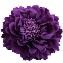 Festival Peony Hair Flower Hairpins Eggplant Purple Head Accessories for Teen Girls Women Hairpiece Boho Performance Headdresses