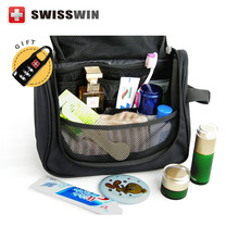 Swisswin Makeup Organizer Waterproof Toiletry Bag Travel Cosmetic Bags Hanging Bathroom Toiletry Kit For Necessaries(China)