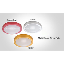 7W led ceiling light Surface mounted bedroom ceiling lamp silver/yellow/red color Absorb dome light AC85-265V(China)
