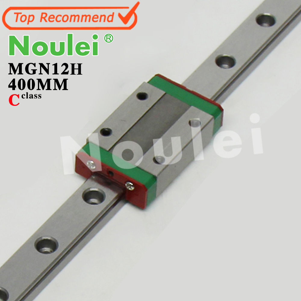 Kossel Mini for Noulei 12mm MGN12 Linear Guide Rail Slide 400mm + MGN12H Linear Block for CNC X Y Z Axis 3d Printer Part<br>
