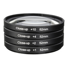 52MM Macro Close Up Filter Lens Kit +1 +2 +4 +10 for NIKON D7100 D5100 D5200 D3300 D3200 D3100 D800 D700 D600 D90 D80 Camera Len