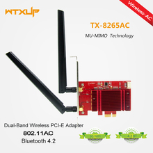 PCIE 8265AC 2.4G / 5G Dual Band Desktop 8265NGW 867Mbps Wireless PCI-E Wi-Fi Bluetooth 4.2 WIFI CARD AC 8265 WLAN(8265 in it).(China)