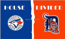 MLB Toronto Blue Jays Detroit Tigers House Divided Flag Banner New 3x5FT 90x150CM Polyester 8785, free shipping(China)