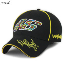 WZZAE 2017 New Wholesale Rossi 46 Embroidery Fashion Men Women Snapback Caps Hat Motorcycle Racing Cap VR46 Brand Baseball Cap