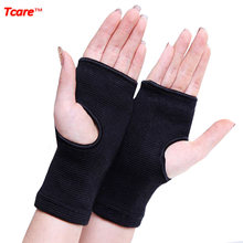 Tcare Elastic Far Infrared Wrist Brace Wrist Support Band Belt Health Care Joint Care Fingerless Gloves Braces(China)