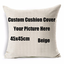 Your Design Picture here Print, Pet ,wedding and personal life photos custom cushion cover pillowcase capa de almofadas 45x45cm(China)