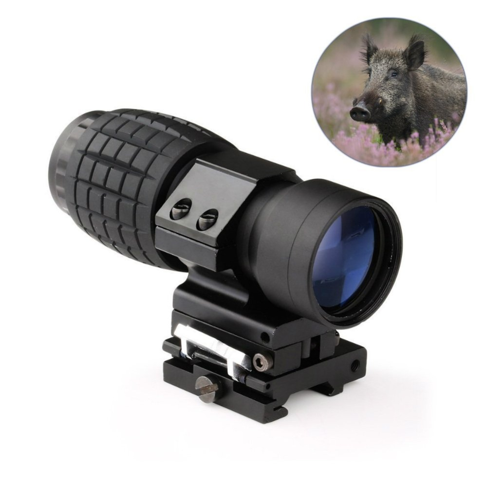 3X Magnifier Scope FTS Flip to Side for Aimpoint or Similar Scopes Sights For Airsoft Hunting<br>