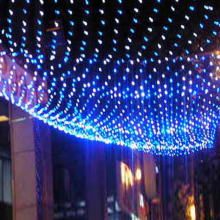 NEW LED Net Christmas Lights 1.5 x1.5M 96 LEDS 4 colours to choose Outdoor 220V EU Plug Waterproof LED Net Light fast ship(China)