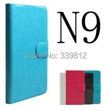 Genuine Luxury Original Flip PU Leather Case Cover For Nokia N9 Phone Bags +Touch Pen Gift