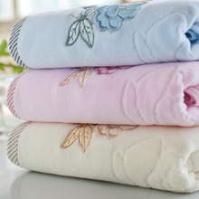 34*75cm Soft 100% Cotton Face Embroidered roses Flower Towel Quick Dry High quality Comfortable Absorbent Clean Towels(China)