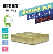5pcs MECOOL HM8 Android 6.0 marshmallow TV Box Quad-core 1GB 8GB 4K 3D Android TV Box HD 1080P Kodi 17.0 Media Player