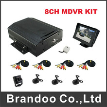3pcs mini camera+1pcs square IR camera+1pcs 4.3inch monitor for 8CH MDVR ,widely used for turck,bus,private car,taxi.