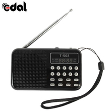 EDAL Mini Portable Rechargeable Digital LED Display Stereo with FM Radio Speaker USB TF Card MP3 Player(China)