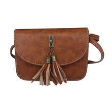 shoulder crossbody bags for women 2018 tassel flap bag black women bags clutch purses leather bags handbags women famous brands(China)