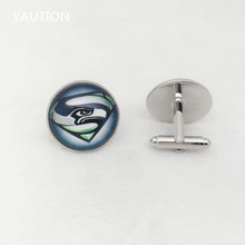 Seattle Seahawks Rugby NFL team new mens silver cufflinks for weddings gift !