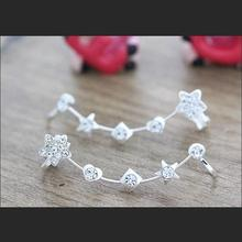Crystal Flower Heart Star Square Golden & Silver Ear Cuff Fashion Clip Earrings for Women Ear Wrap Jewelry