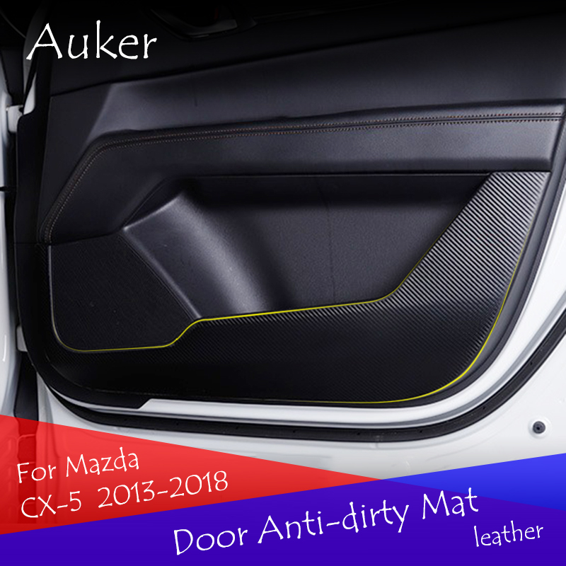 For 2017 2018 Mazda CX-5 CX5 Matt Interior Front Door Triangle Cover Trim