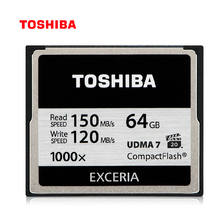 TOSHIBA cf card 128GB 64GB 32GB Memory Card Compact Flash High Speed 1000x R:150Mb/s For DSLR Camera Full HD 3D Video Camcorder(China)