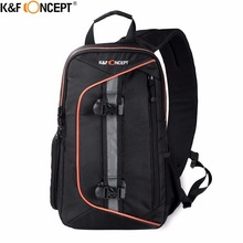 K&F CONCEPT Waterproof Camera Backpack New Style Sling Messenger Travel Bag Big Capacity Hold DSLR Tripod iPad With Rain Cover(China)