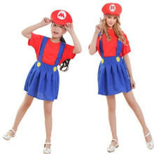 New Parenting cloth Super Mario Bros Cosplay Girls Woman Halloween Game Costume Christmas Purim Carnival Stage performance dress
