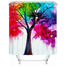 Nanaz Shower Curtains A Variety of Colors Tree Eco-Friendly Shower Curtains Bathroom Curtain High Quality Bathroom Products(China)