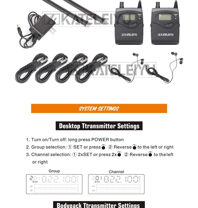 EM2050 Wireless in ear Monitor System 10 ear monitoring systems wireless stage monitor system EM2050 IEM bodypack monitor