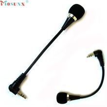 New Mini 3.5mm Jack Flexible Microphone Mic For PC Laptop Notebook Skype Yahoo Dec7 Mosunx
