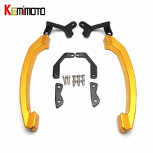 KEMiMOTO MT07 MT 07 Grab Handle Bars Rear Seat Passenger Grab Rail Handle For Yamaha MT-07 FZ07 FZ 07 2014 2015 2016 2017(China)