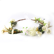 M MISM New Arrival carnations Flower Headband Bridal Floral Crown Hair Wreath Mint head wreath wedding accessories headpiece(China)