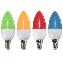 E14 2W 2835 SMD 10 LED Energy Saving Chandelier Candle Light Bulb Lamp 200Lumen Non Dimmable AC 220V Red Green Blue Orange