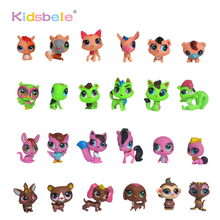 Figurine Anime Littlest Kids Toy 10PCS/Lot Pet Cat Dog Small Animals Toys&Hobbies Shop Toys For Children Girl New Year Gift(China)