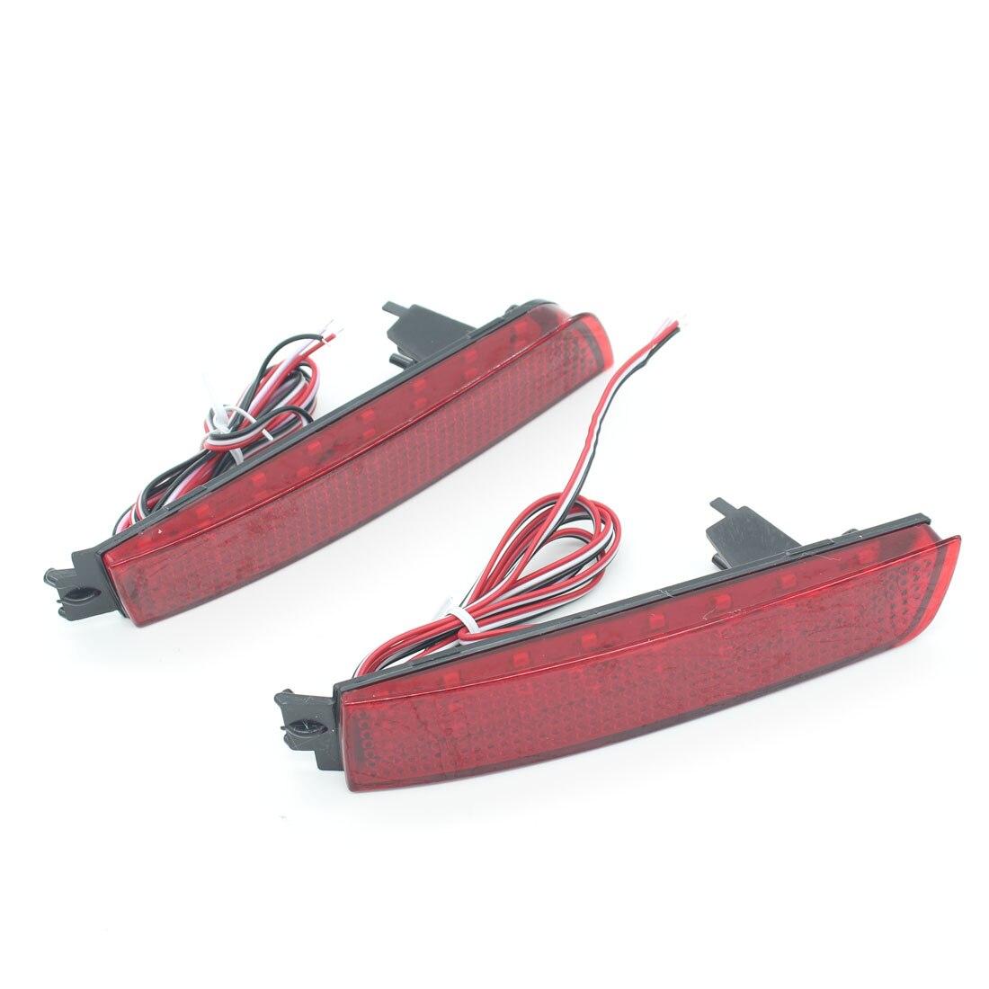 Dongzhen Fit For Nissan Bluebird Sylphy Almera LED Red Rear Bumper Reflectors Light Night Running Brake Warning Lights Lamp<br>