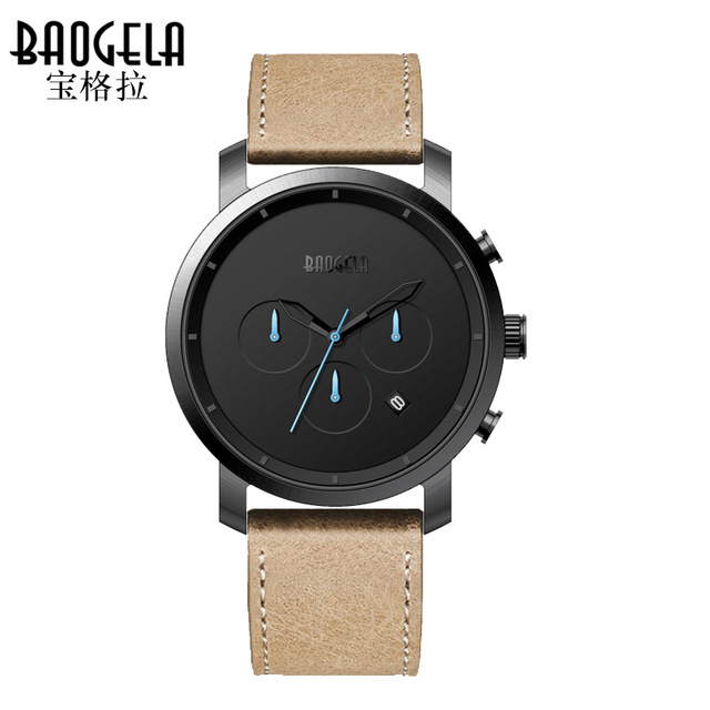 2017 New Fashion Design Men Sports Watches Luxury Brand Casual Analog Quartz Watch Men Leather Band Wristwatch relogio masculino<br>