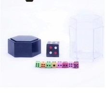 Free shipping 2 sets Colorful Explosion Dice Trick Magic Master Exploding Multiplying Dice magic dice