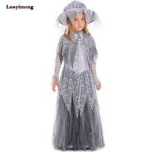 New Kids Cosplay disfraces nupcial flor niñas vestido lindo niños de  Halloween vampiro princesa bruja ropa niño vestido Lolita c5cf723b28c1