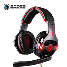 Sades SA-903 USB 7.1 Gaming Headset Big Wired Headphones with Mic Volume Control Noise Cancelling For razer gamer casque(China)