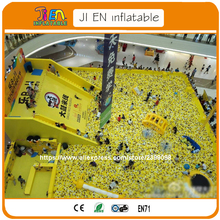 giant inflatable games for indoor play zone / ball pool playground for children