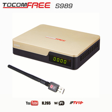 New products  decodificadores satellital hd azbox receiver azamerica s1005  tocomfree S989  with iptv cccam newcam for Colombia