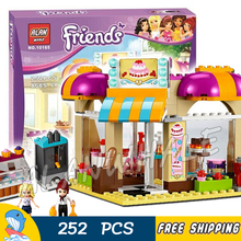 252pcs Bela 10165 Girls Friends Heartlake Ice Cream Shop Downtown Bakery DIY 3D Blocks Children Toys Gift Compatible With lego