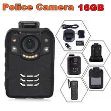 Бесплатная доставка! 16 ГБ Ambarella A7L50 Super HD 1296 P 2 К Полиции Носить Камера 170 Часов 60fps ИК