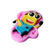 D142 1 piece Cartoon 3D Silicone Mould Cakes Cookware Dining Bar Non-Stick Cake Decorating fondant soap mold