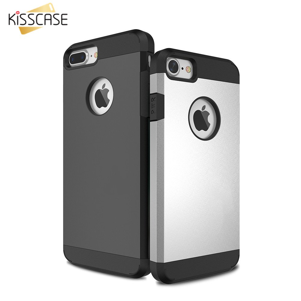 KISSCASE Hybird Phone Cases For iPhone 4 4s 5 5s SE 6 6s Plus 7 7 Plus Case Shockproof Armor Phone Back Cover Coque Accessories(China (Mainland))