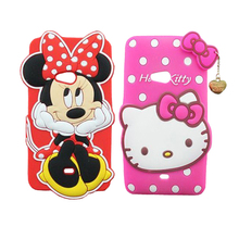 For Nokia Lumia 625 Case Cute 3D Minnie Mouse Hello Kitty Silicone Mobile Phone Cases For Lumia 625